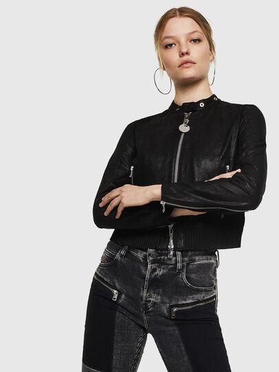 Diesel - L-LYSSA-G, Black - Leather jackets - Image 3