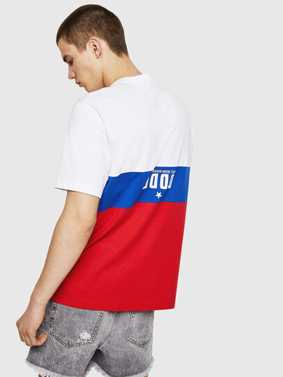 Diesel - T-JUST-A1, White/Red/Blu - T-Shirts - Image 2
