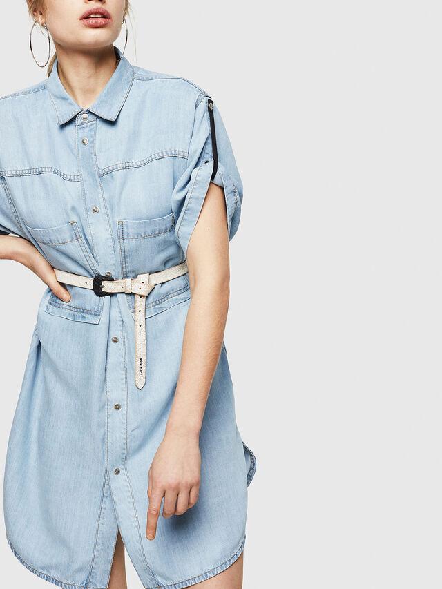 Diesel - DE-SUP-SL, Blue Jeans - Dresses - Image 4