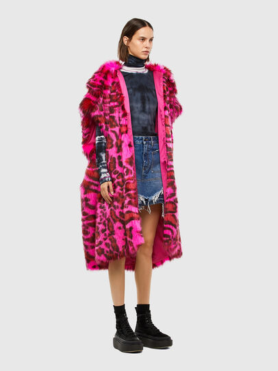 Diesel - L-WEEKY-SP, Hot pink - Leather jackets - Image 6