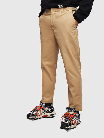 Diesel - P-CHARLIE, Light Brown - Pants - Image 1