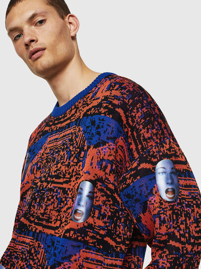 Diesel - K-FACE, Red/Blue - Knitwear - Image 4