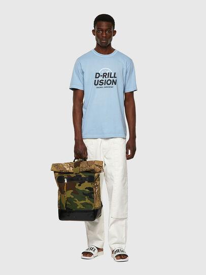 Diesel - ROLAP, Green Camouflage - Backpacks - Image 6