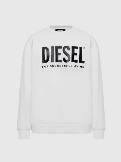 Diesel - S-GIR-DIVISION-LOGO, White - Sweaters - Image 1