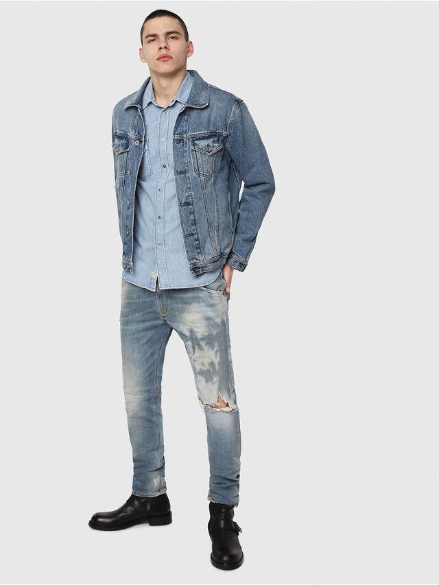 Diesel - Krooley JoggJeans 087AE, Light Blue - Jeans - Image 4