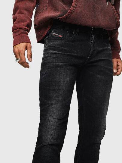 Diesel - Sleenker 0092B, Black/Dark grey - Jeans - Image 3