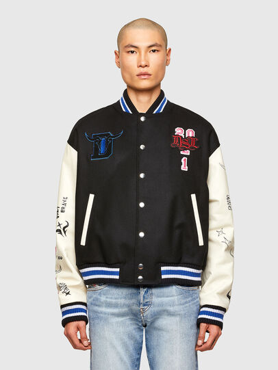 Diesel - CL-L-COHEN-O, Black - Leather jackets - Image 1
