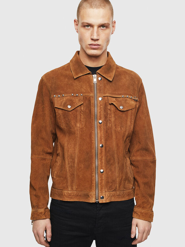 L-DEAN, Brown - Leather jackets