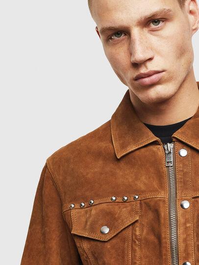 Diesel - L-DEAN, Brown - Leather jackets - Image 3