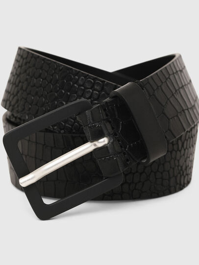 Diesel - B-CROCLE, Black - Belts - Image 2
