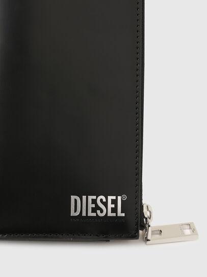 Diesel - L-24 ZIP, Black - Zip-Round Wallets - Image 4