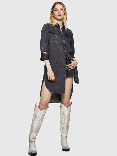 Diesel - DE-BLANK, Black/Dark grey - Dresses - Image 7