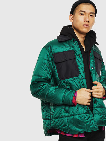 Diesel - J-WELLES, Green - Winter Jackets - Image 4