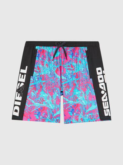 Diesel - BMBX-TUNADOO, Pink/Blue - Swim shorts - Image 1