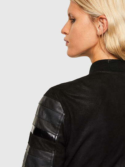 Diesel - L-WALL, Black - Leather jackets - Image 4