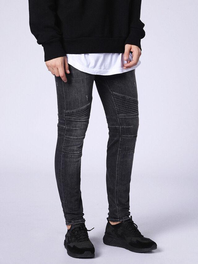 Diesel - Fourk 084NQ, Black/Dark grey - Jeans - Image 4