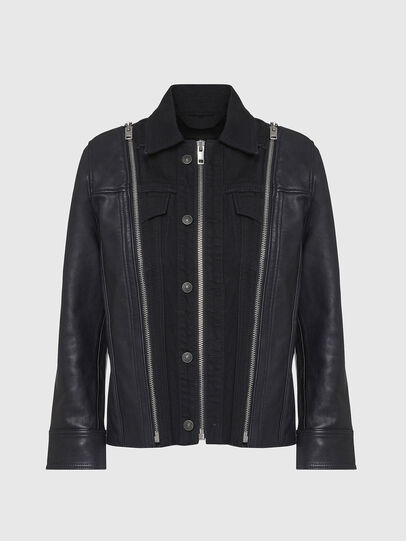 Diesel - L-LAZAY, Black - Leather jackets - Image 1