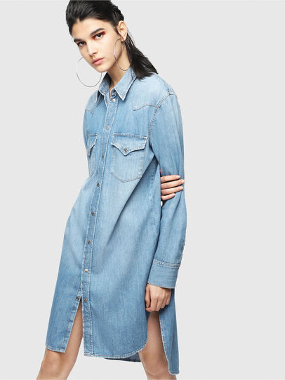 Diesel - DE-BLANCHE, Light Blue - Dresses - Image 6