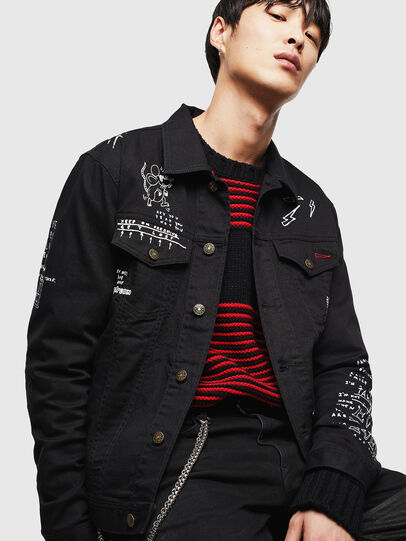 Diesel - CL-NHILL-T, Black - Denim Jackets - Image 3