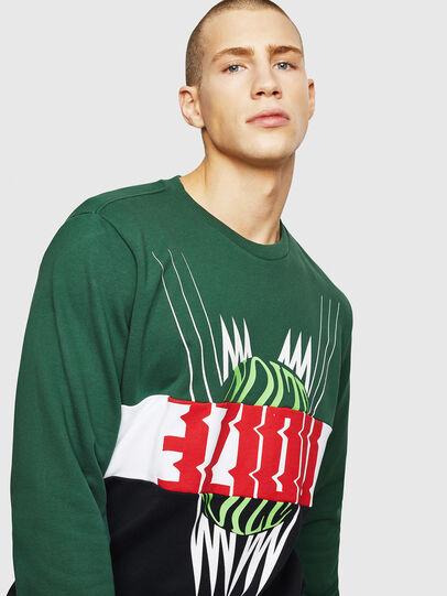 Diesel - S-GIR-CUT, Green/Black - Sweaters - Image 4