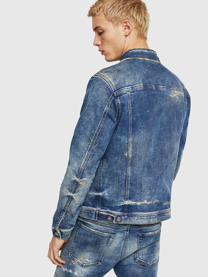 Diesel - NHILL-TW, Medium blue - Denim Jackets - Image 2