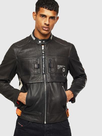 Diesel - L-DIXON, Black - Leather jackets - Image 1