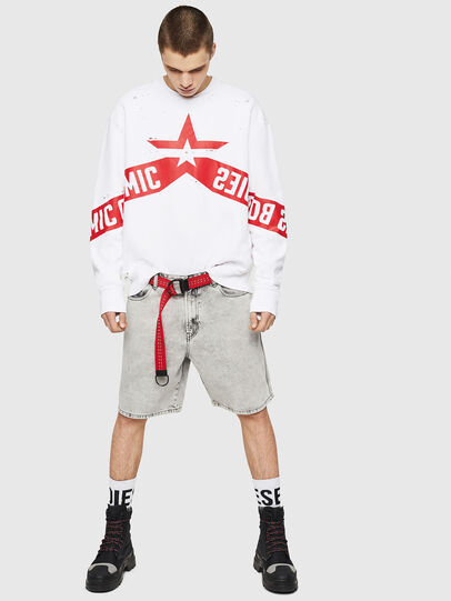 Diesel - S-BAY-HOLES, White/Red - Sweaters - Image 5