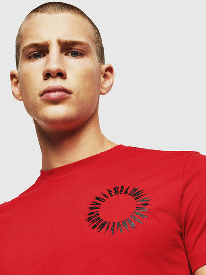Diesel - T-DIEGO-A12, Fire Red - T-Shirts - Image 3