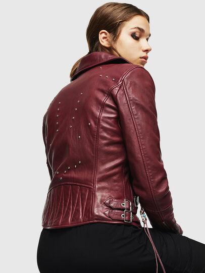 Diesel - L-SINYA-A, Bordeaux - Leather jackets - Image 2