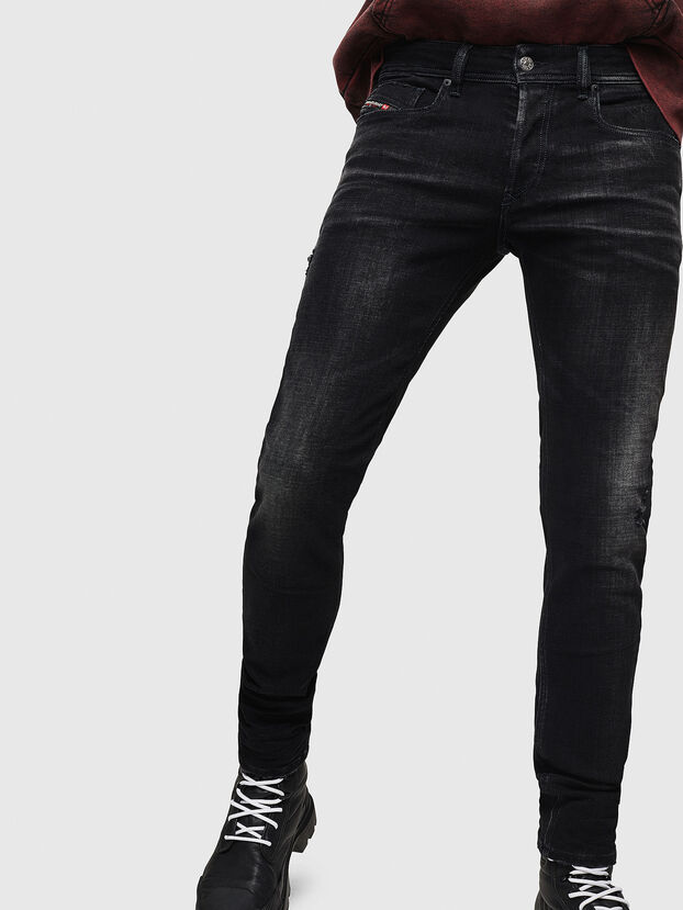 Sleenker 0092B, Black/Dark grey - Jeans