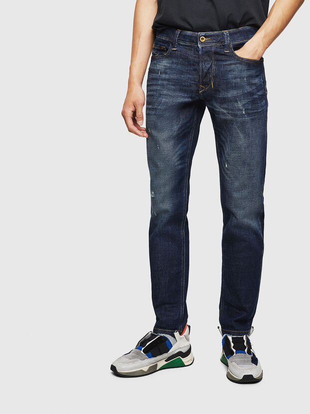 Larkee-Beex 087AT, Dark Blue - Jeans