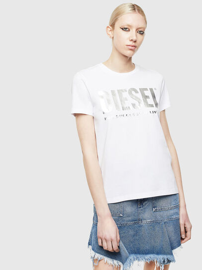 Diesel - T-SILY-WX, White/Grey - T-Shirts - Image 1