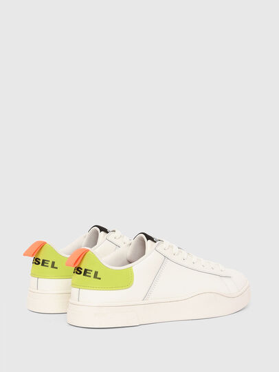 Diesel - S-CLEVER LOW LACE, White/Yellow - Sneakers - Image 3
