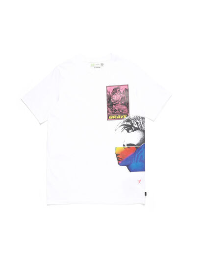 Diesel - D-5055-W, White - T-Shirts - Image 1