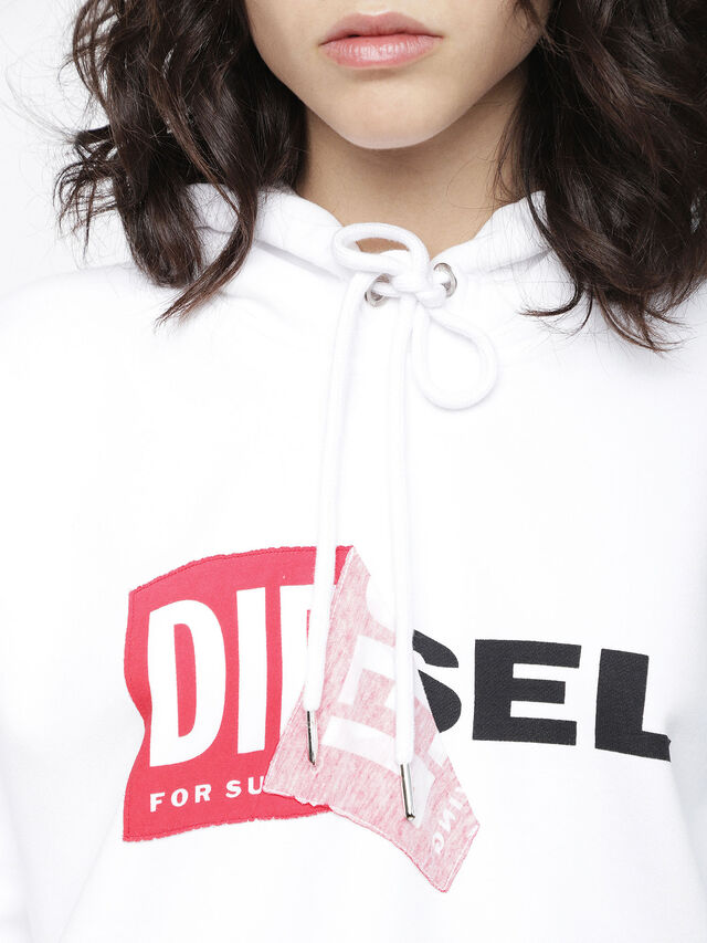 Diesel - F-ALBY-FL-A, White - Sweaters - Image 3