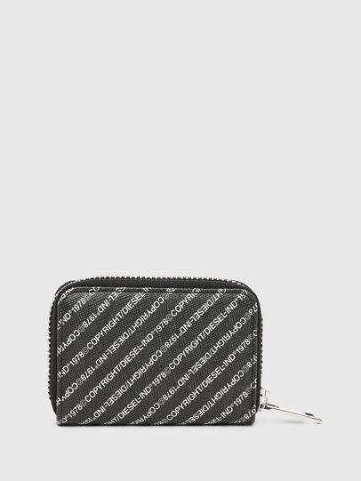 Diesel - JAPAROUND, Black/White - Zip-Round Wallets - Image 2