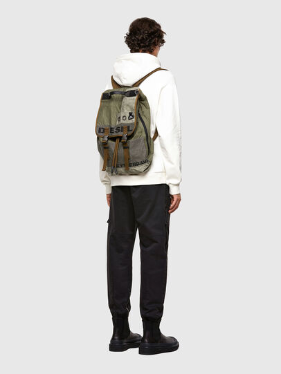 Diesel - VOLPAGO BACK ARMY, Olive Green - Backpacks - Image 7