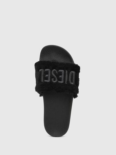 Diesel - SA-VALLA R W, Black - Slippers - Image 5
