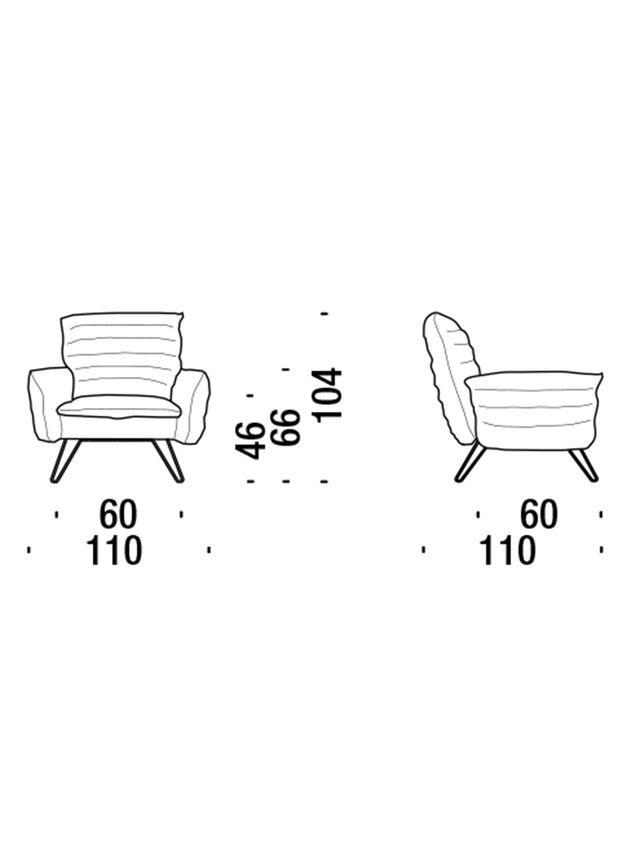 Living DL0F55 CLOUDSCAPE, Blue - Armchairs - Image 2