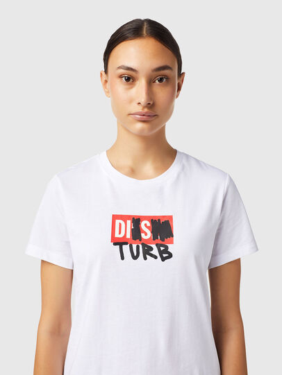 Diesel - T-SILY-B6, White - T-Shirts - Image 3