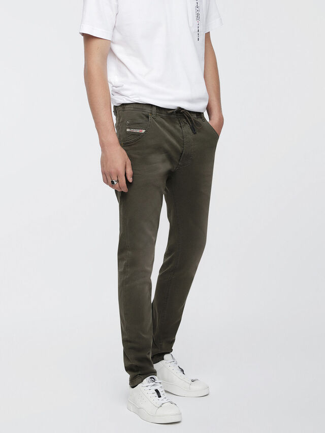Diesel Krooley JoggJeans 0670M, Military Green - Jeans - Image 1