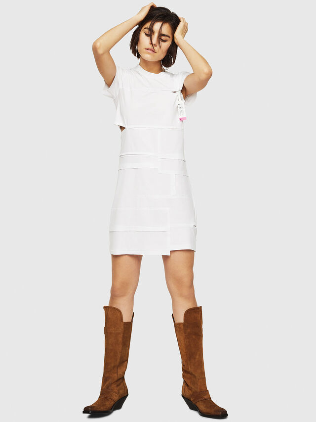 Diesel - D-MILIA-B, White - Dresses - Image 5