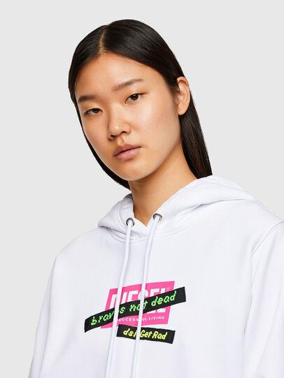Diesel - F-ANG-HOOD-R20, White - Sweaters - Image 3