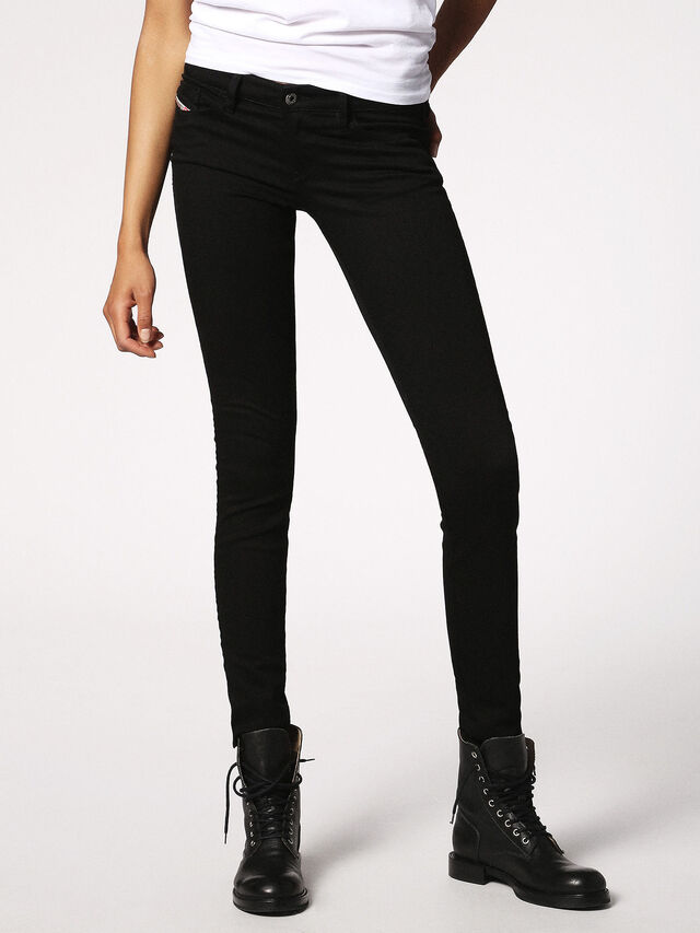 SKINZEE-LOW 0813E, Black Jeans