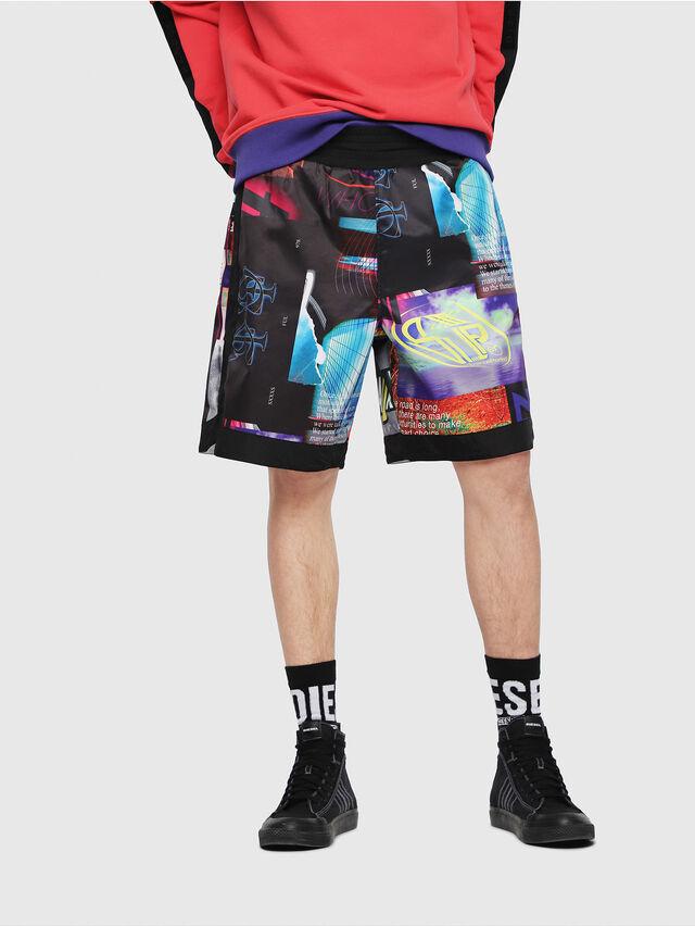 Diesel - P-KUMI-PRINT, Multicolor/Black - Shorts - Image 1