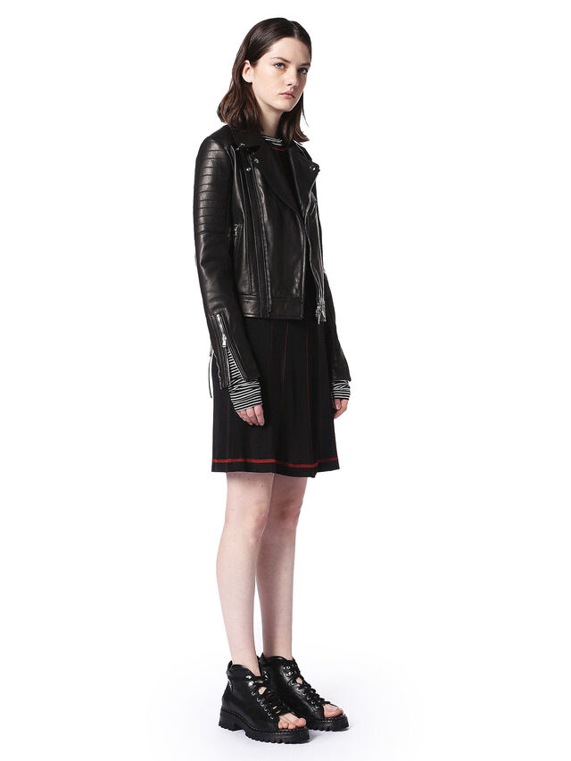 Diesel - LINEW, Black - Leather jackets - Image 4