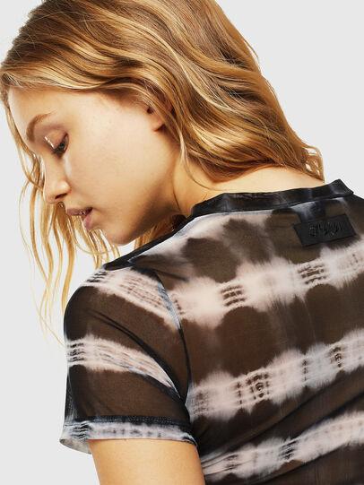 Diesel - UFTEE-ROUNDFEM-M, Black/White - T-Shirts - Image 4