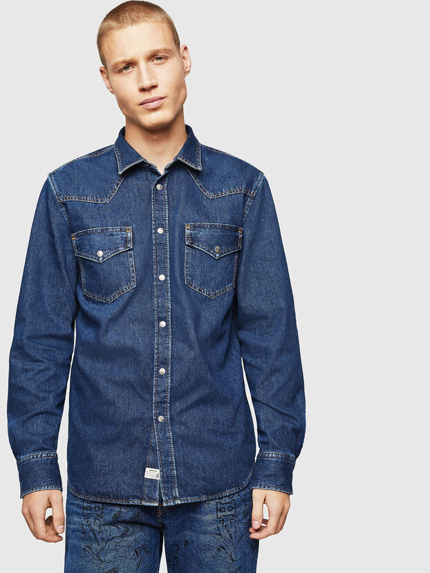 D-EAST-P, Medium blue - Denim Shirts