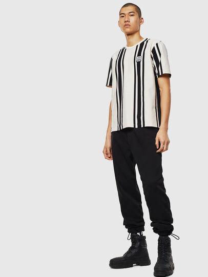 Diesel - T-STRIP-J1, White/Black - T-Shirts - Image 5