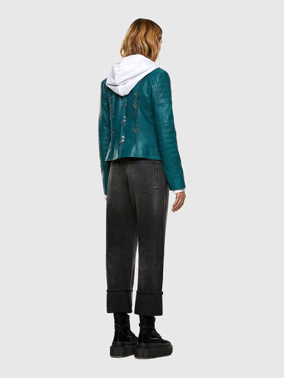 Diesel - L-MARS, Water Green - Leather jackets - Image 7